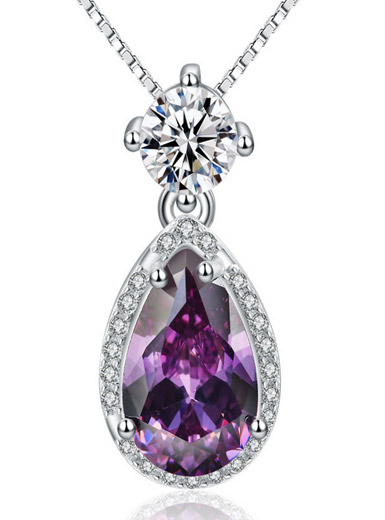 Amethyst 925 Sterling Silver Necklace Pendant