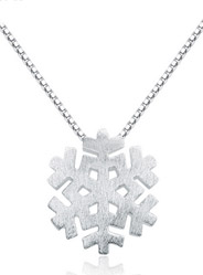 925 sterling silver necklace pendant snowflake