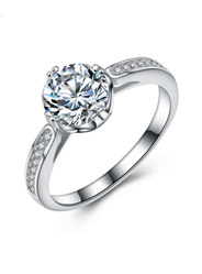 S925 sterling silver ring high - end fashion temperament diamond wedding guide