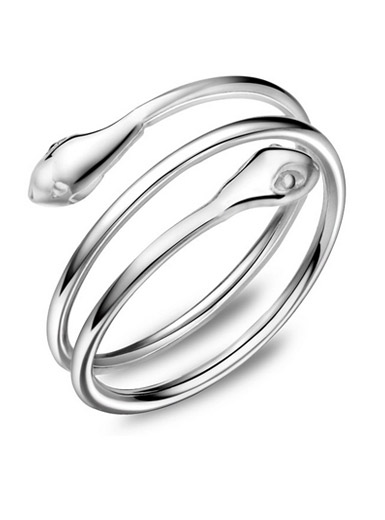 S925 sterling silver creative snake multi-ring ring