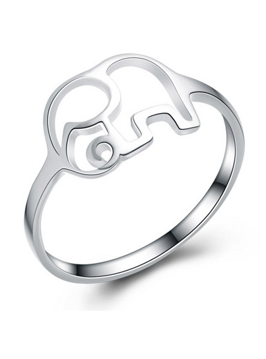 925 sterling silver jewelry national wind elephant female ring