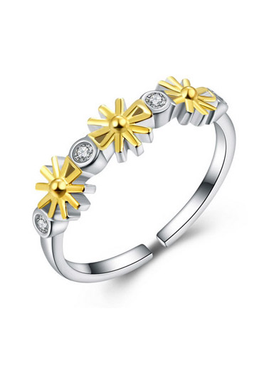 925 sterling silver micro-set five-pointed star Korean version of the ring