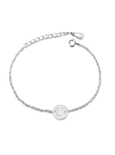 Smiley face bracelet in Sterling Silver