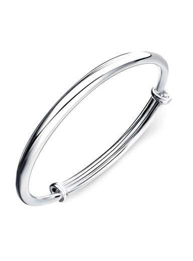925 sterling silver fashion simple bracelet