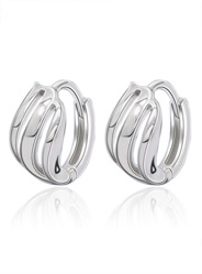Threaded Earrings in Sterling Silver