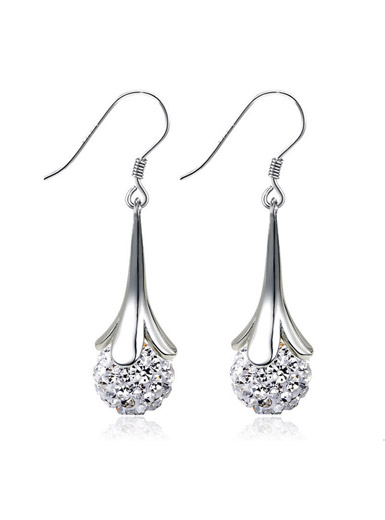 925 sterling silver ball earrings