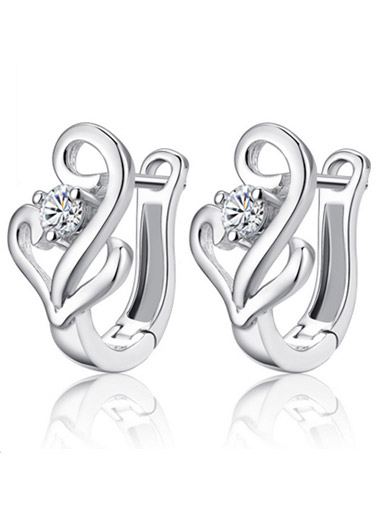 925 sterling silver shape earrings