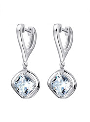 925 sterling silver Korean style diamond earrings