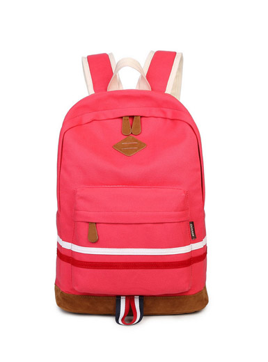 Japan and South Korea shoulders backpack color stripe shoulder bag