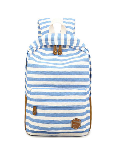 The new double - shoulder bag female Korean version of the school canvas bag backpack simple bag