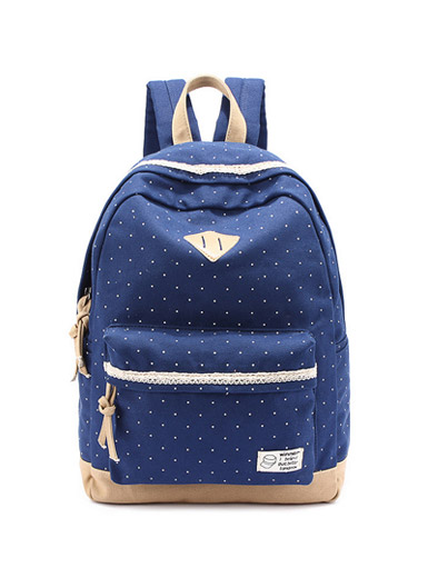 College windbreaker backpack Sen female line travel bag