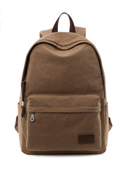 The new men 's solid color leisure canvas back