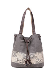 Canvas fashion printing leisure shoulder bag