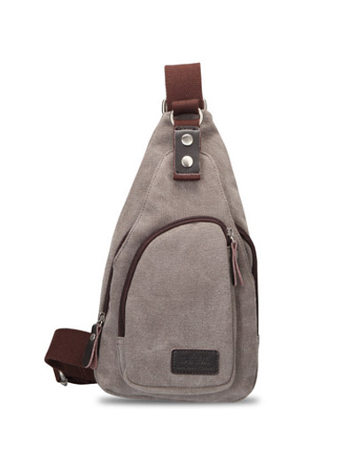 Solid color trend canvas leisure Messenger bag