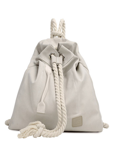 Fashion wild new small Department of the new literature and art beam canvas rope backpack