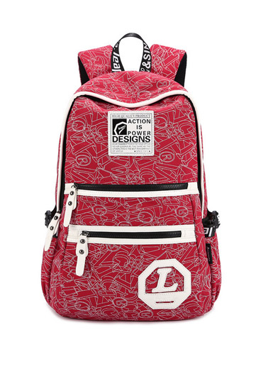 Burst printing canvas shoulder bag travel backpack