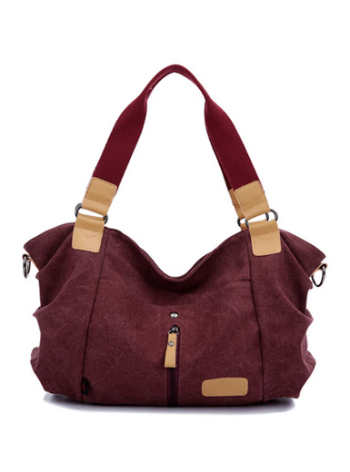 New canvas leisure hit color handbag shoulder bag