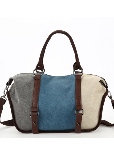The new fashion canvas leisure Messenger bag shoulder bag