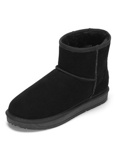 Daphne new comfortable flat-bottomed fashion frosted snow boots