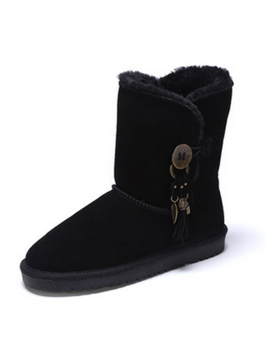 Daphne Winter new flat tassel fashion snow boots