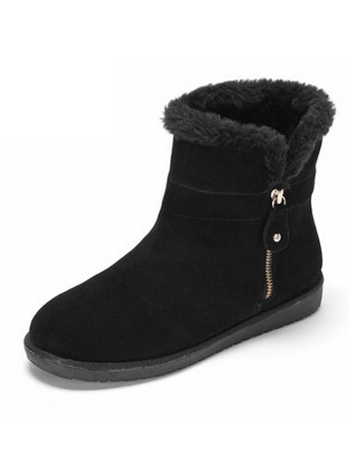 Daphne Winter comfortable comfortable round head frosted plush snow boots