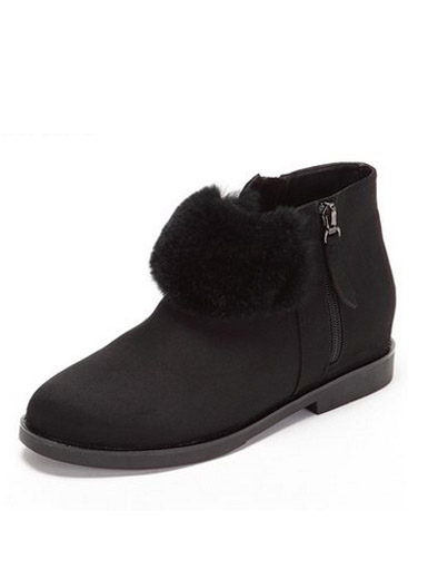 Daphne winter new suede low-heeled wild plush snow boots