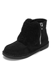 Daphne winter comfortable flat-bottomed leisure plush zipper snow boots