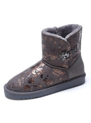 Daphne winter plush flat-bottomed fashion diamond stitching snow boots