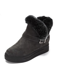 Daphne new thick bottom buckle fashion round head plush snow boots
