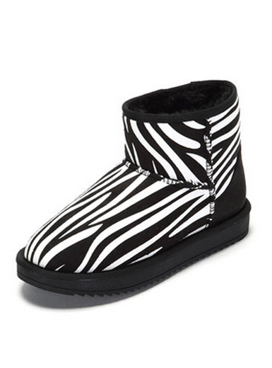 Daphne winter new flat fashion personality zebra snow boots