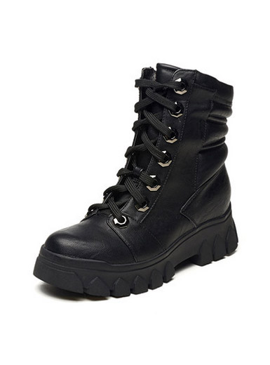 Daphne casual shoes fashion tide round head with a loose bottom Martin boots