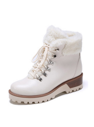 Daphne winter new thick section with plush Martin fashion boots