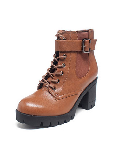Daphne winter fashion female boots round with thick Martin boots