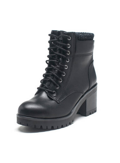 Daphne Winter Women Round Head with Lace-up Martin Martin Boots