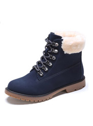 Daphne wild casual Martin boots comfortable plush collars lace boots
