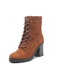 Daphne winter hot thick short with a suede lace womens boots