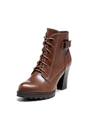 Daphne British round high-heeled ladies with Martin boots