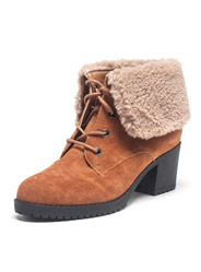 Daphne winter cashmere suede high - heeled fur short female cotton boots