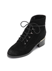 Daphne winter new suede female boots with a square side with Martin boots
