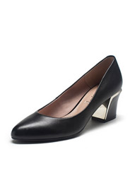 Daphne genuine metal high-heeled foot cowhide commuter shoes