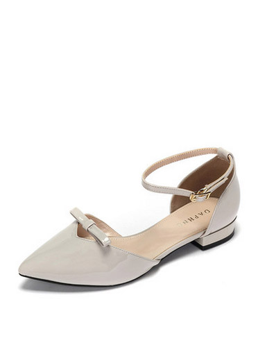 Daphne spring and summer comfortable low-heeled shoes elegant tip bow tie sandals