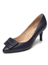 Daphne new leather simple side of the mouth with shallow high-heeled commuter shoes