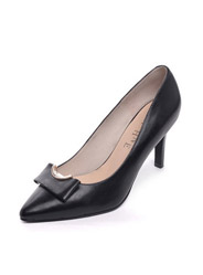 Daphne new leather pointed high-heeled commuter shallow mouth women's singles shoes