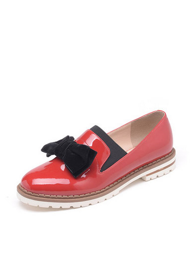 Daphne fashion patent leather low-heeled shoes in the mouth of women's shoes
