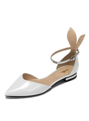 Vivifleurs sweet rabbit ears with a single temperament pointed tip buckle low-heeled sandals