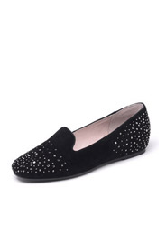 Daphne new diamond shallow mouth with flat leather flat shoes