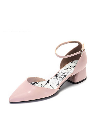 Daphne spring and summer sweet Mary Jane shoes fashion pointed word buckle shallow mouth thick with sandals