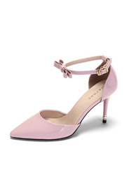 Daphne elegant thin with a single sexy sexy bow bow with a word buckle ultra-high heel shoes