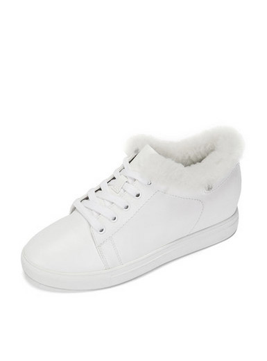 Daphne Wang also cooperation paragraph wild white shoes casual system with increased movement wind shoes
