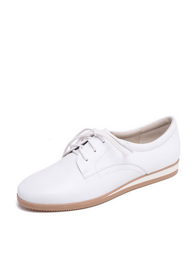 Daphne new leather simple shoes with flat shoes